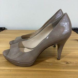 Enzo Angiolini peep toe heels, size 7M